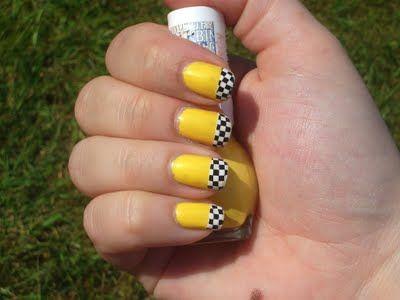 Love It Checkered Nails Nails Yellow Nails