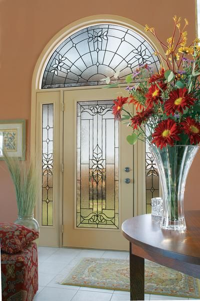 Jeld Wen Smooth Pro Glass Panel Single Fiberglass Door