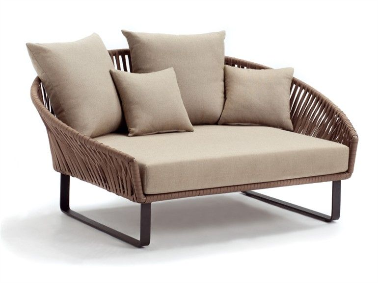 2 Seater Garden Sofa Bitta Collection By Kettal Outdoor Daybed Modern Patio Furniture Outdoor Sofa