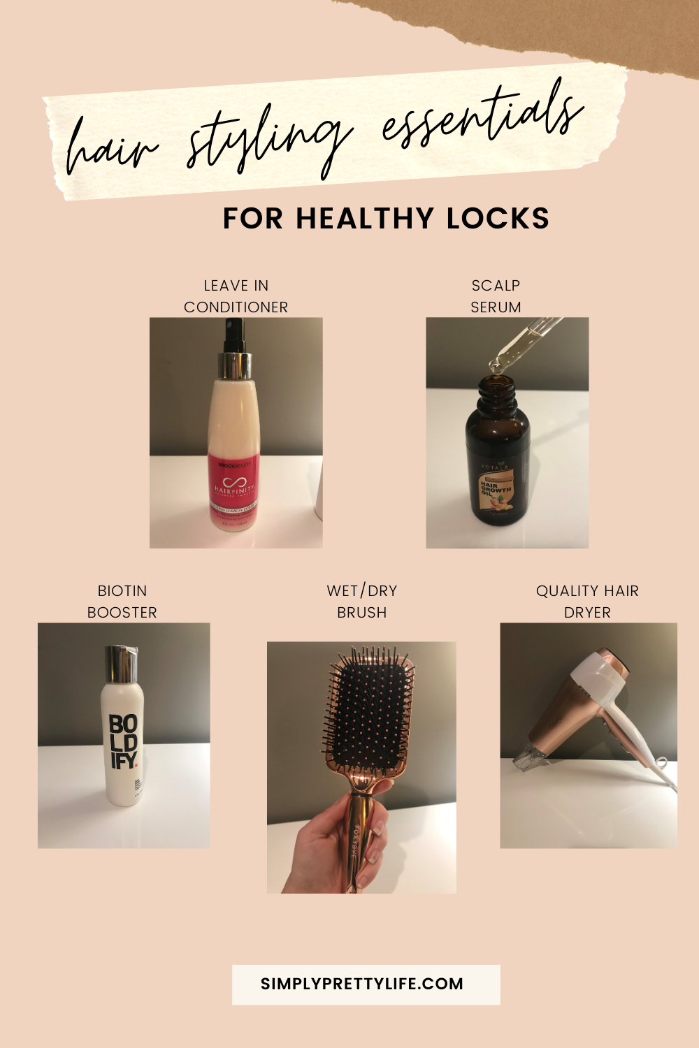 Healthy Hair Essentials Simply Pretty Life In 2020 Hair Essentials Healthy Hair Beauty Solution
