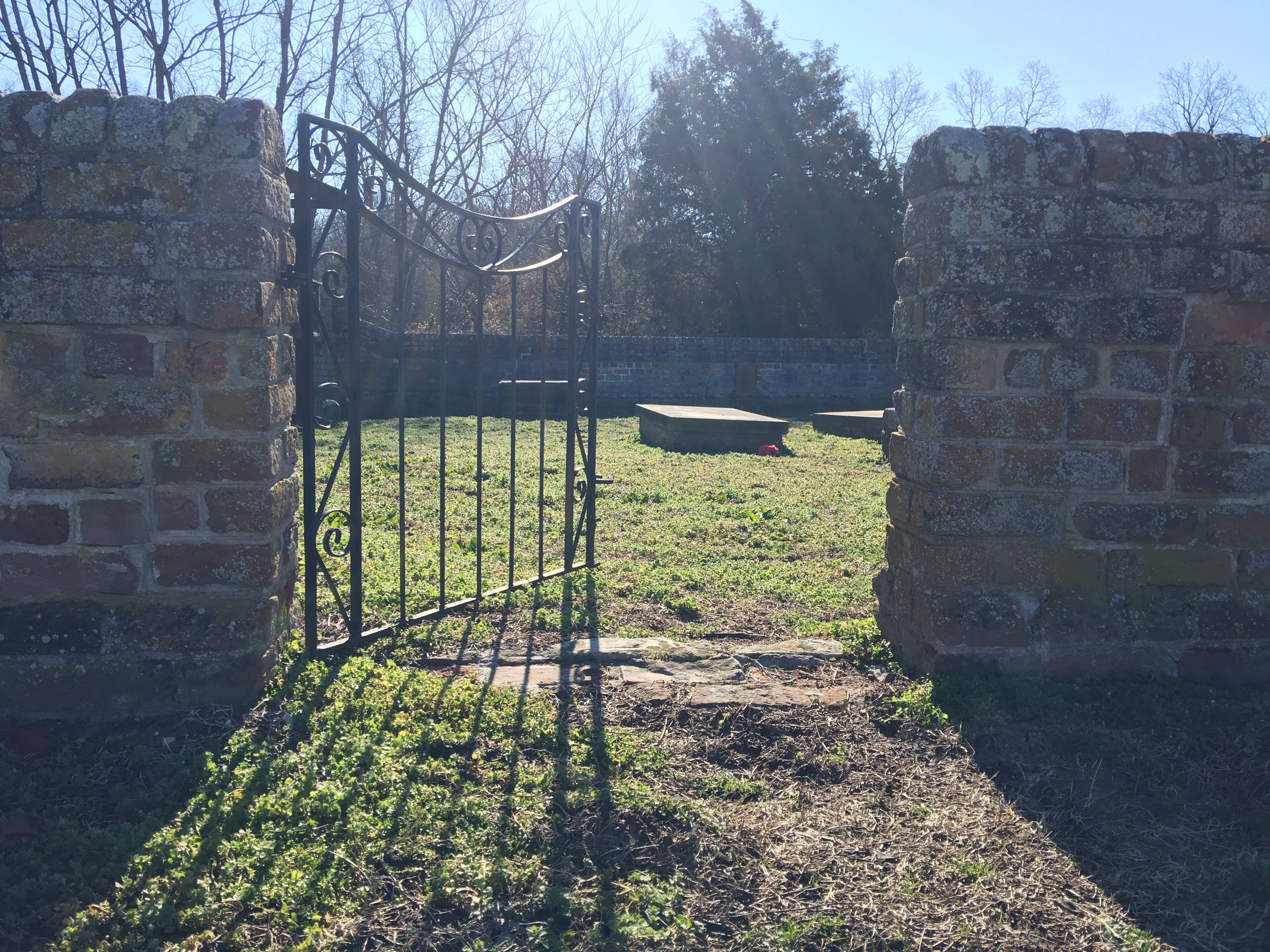 The WarnerLewis family graveyard is open for visitors. It