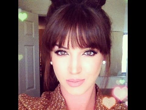 How to style BLUNT BANGS ♡ Using the comb to guide the flat iron is key!