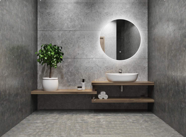 Alldrei Badspiegel Mit Licht Runder Badezimmerspiegel Mit Led Beleuchtung Touch Schalter 60 Cm Rund Wasserdic Badezimmerspiegel Badspiegel Badezimmer Klein