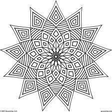 daisy geometry drawing - Google Search | Coloring pages | Pinterest