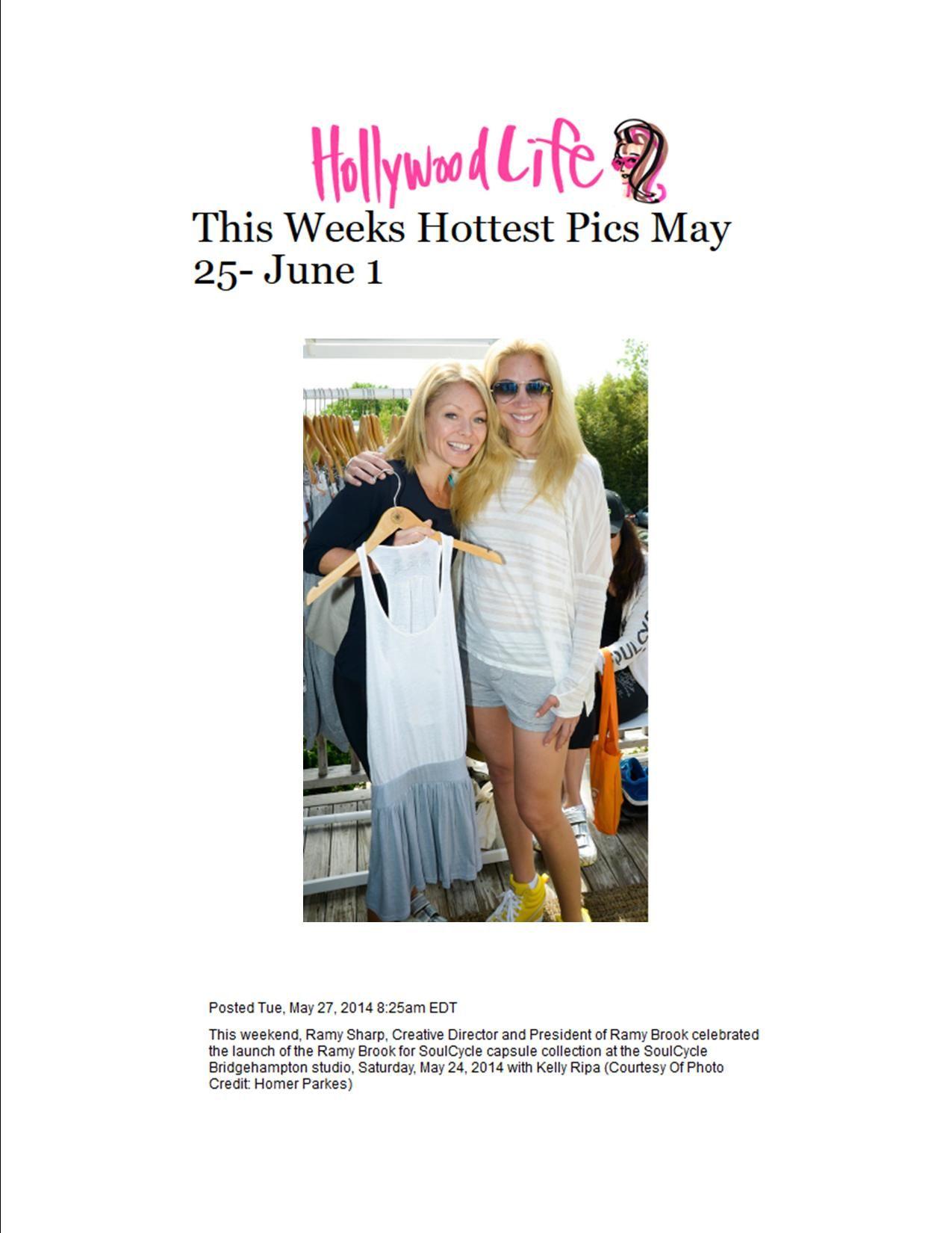 Ramy Sharp and Kelly Ripa on HollywoodLife.com