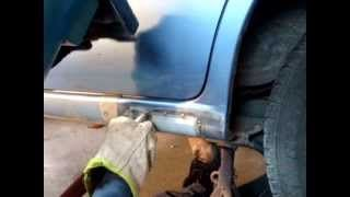 weld rust patch on car panels / mig lesson., via YouTube.