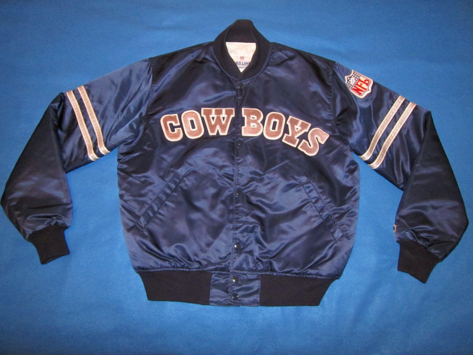 huge selection of f6adb a1cba PERFECT Vintage COWBOYS STARTER Jacket 80s ORIGINAL LARGE ...