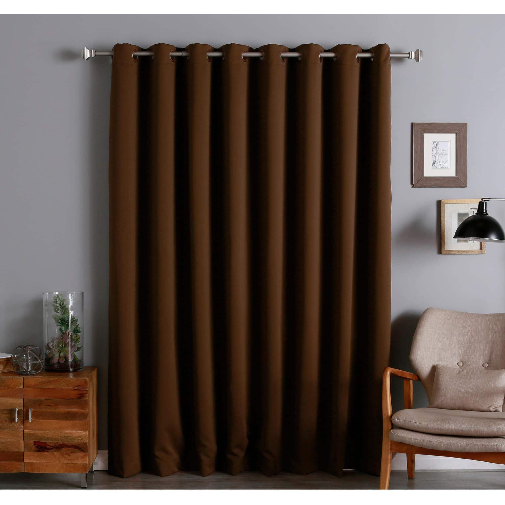 Aurora Home Extra Wide Thermal 96 Inch Blackout Curtain Panel