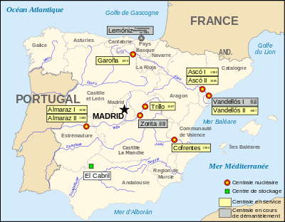 Liste des centrales nucléaires en Espagne — Wikipédia