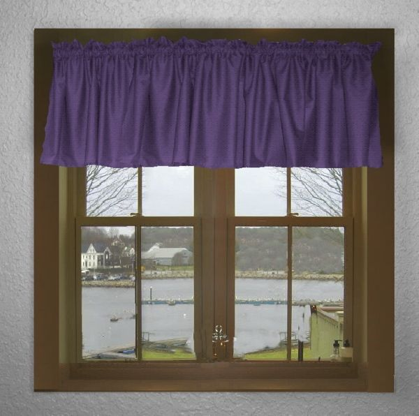 Solid Purple Colored Valance Curtain (available in 5 custom lengths ...