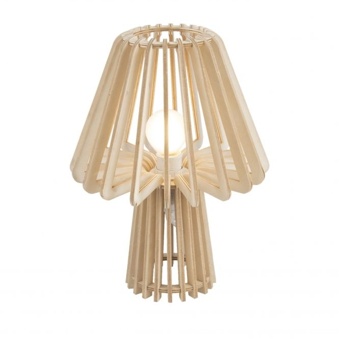 Leitmotiv Table Lamp Edged Mushroom Natural Wood In 2019