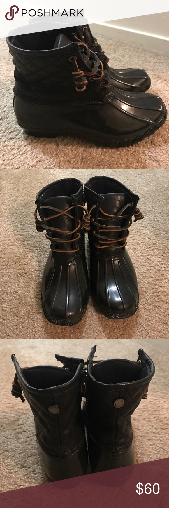 Steve Madden Tillis Duck Booties Size 6 If you are a true to size 6.5, these will fit. Gently Worn Once. Steve Madden Shoes Winter & Rain Boots