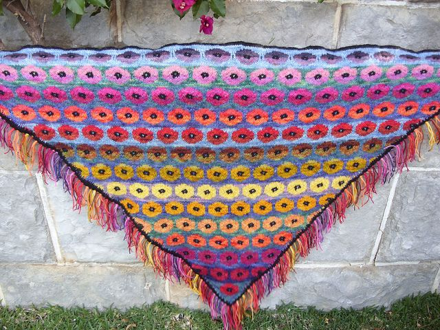 Persian Poppy Shaw by Kaffe Fassett Such a wonderful sense of color