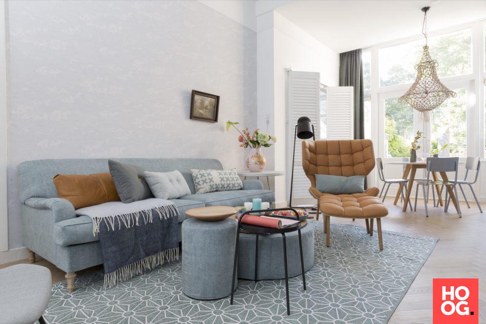 Woonkamer ontwerp met design meubels | interieur ideeën | woonkamer ...