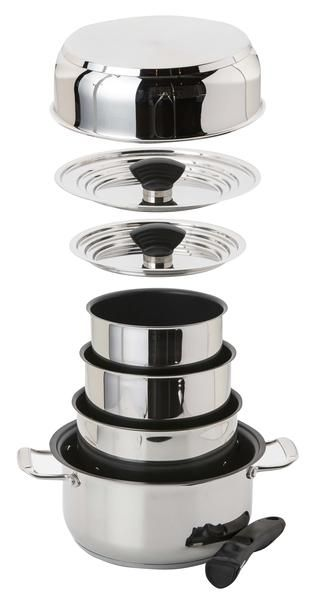 14 Pc Nesting Non Stick Induction Cookware Set