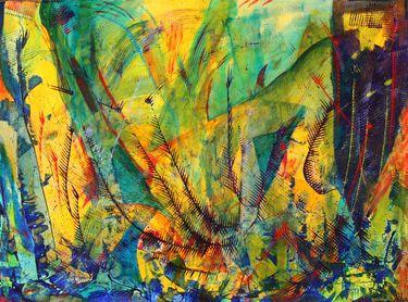 """Saatchi Art Artist Nestor Toro; Painting, """"Ocean particles"""" #art"""