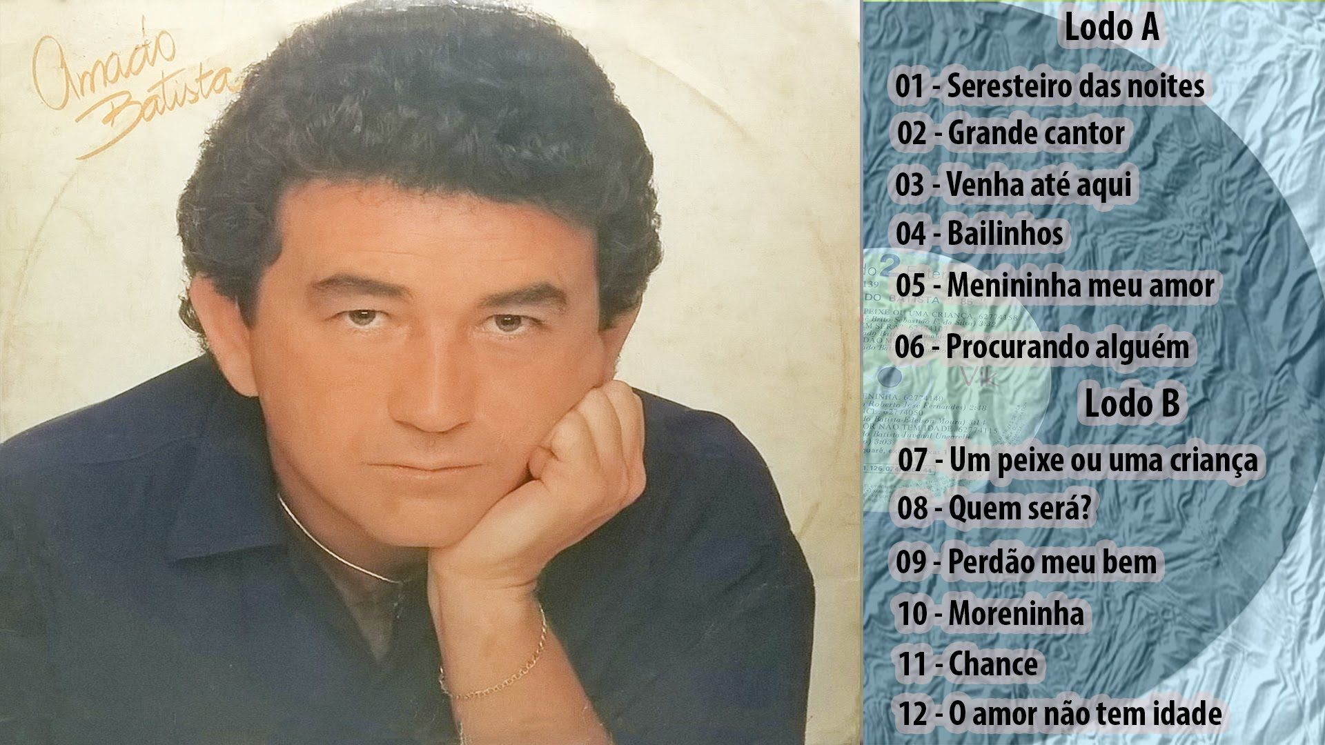 Amado Batista Seresteiro Das Noites 1985 Lp Completo