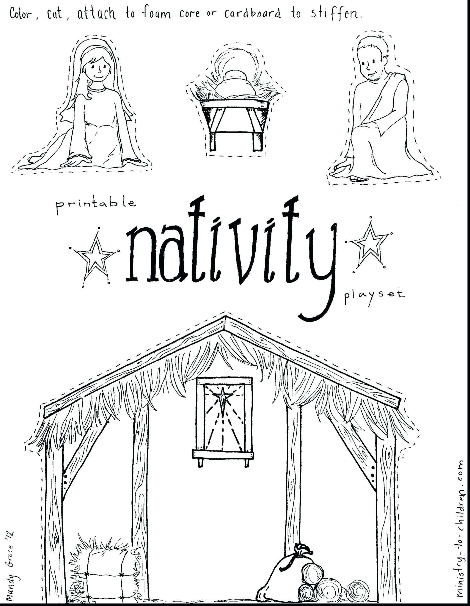 Nativity Scene Coloring Pages Unique Coloring Pages Of