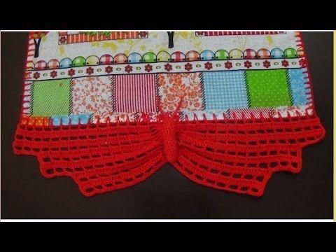 Barrado Em Croche Borboletas P Pano De Prato Modelo I Youtube