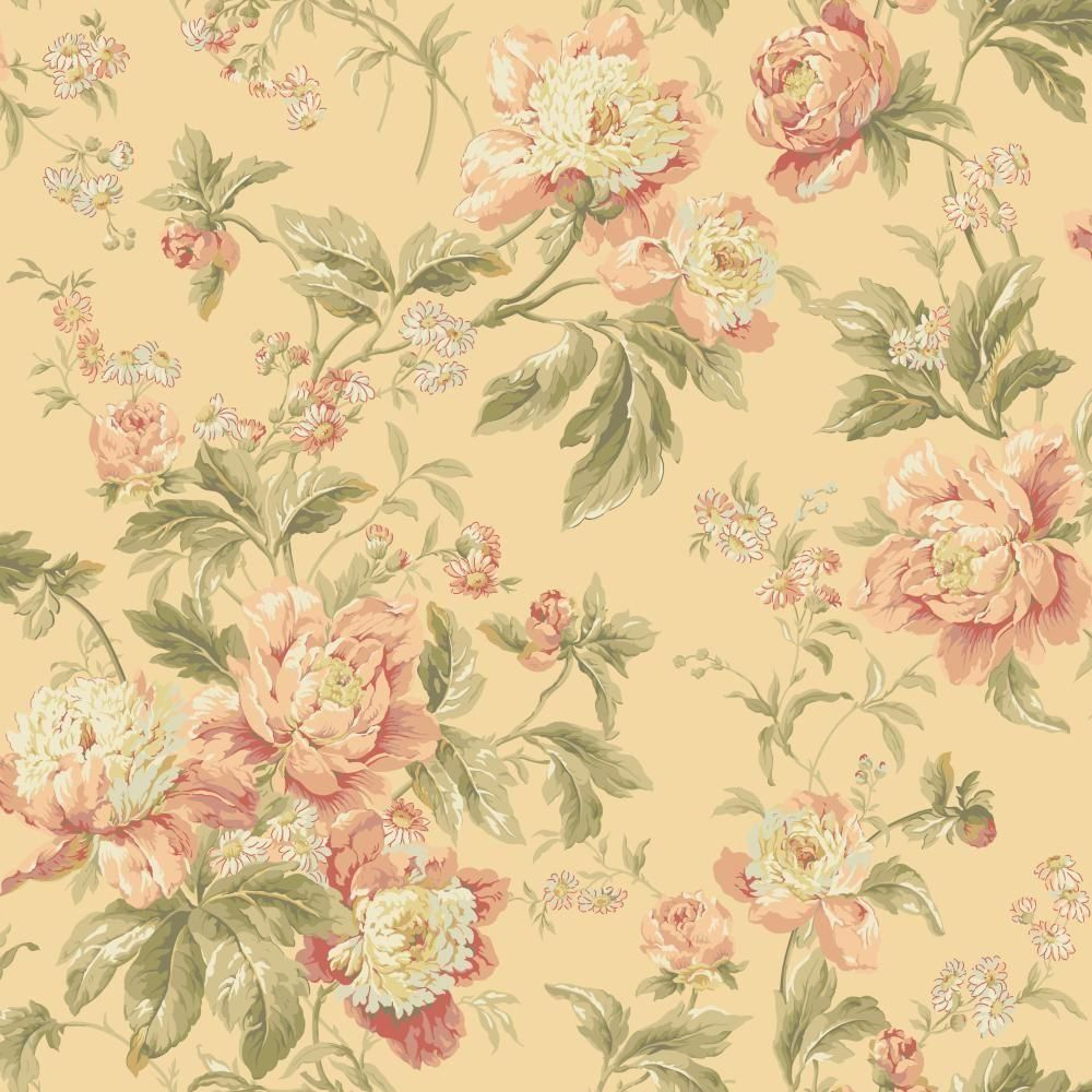 York Wallcoverings Waverly Classics Forever Yours Wallpaper Wa7808