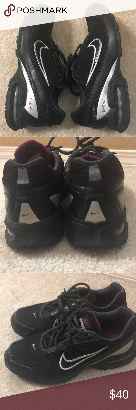 1770b07815d44 Nike Air Max Torch 3 Women s 8.5 Great used condition! Black Purple Silver  Nike Shoes Athletic Shoes