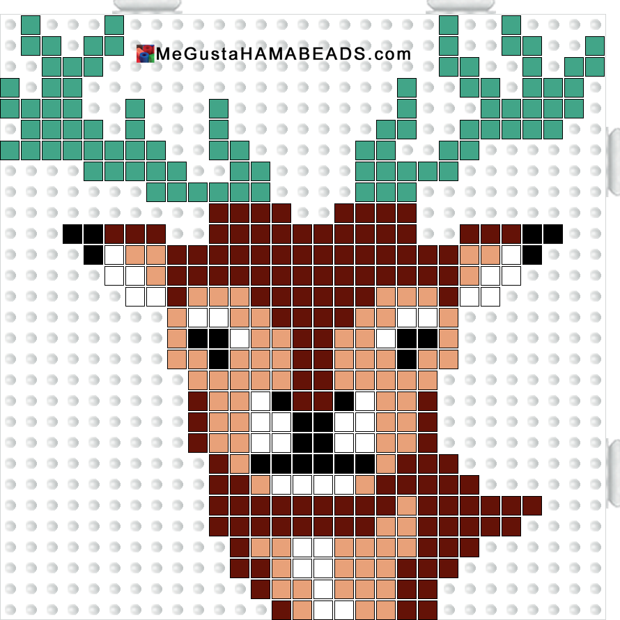 deer hama perler beads pattern minecraft pixel art pinterest hama perles hama et perles. Black Bedroom Furniture Sets. Home Design Ideas