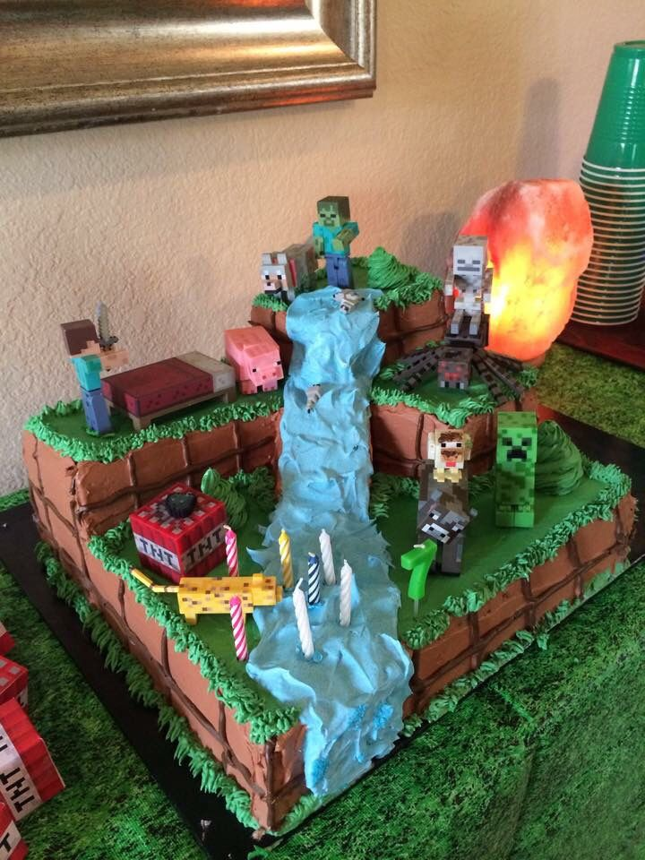 Minecraft Multiple Level Buttercream Cake Minecraft
