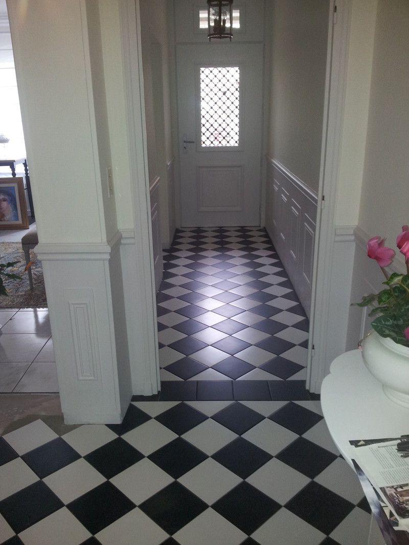 Salle de bain carrelage noir et blanc carrelage noir et Carreaux de ciment noir et blanc