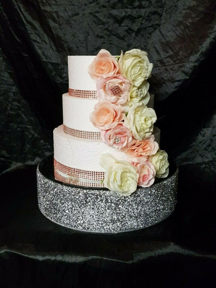 Details About Silver Crystal Wedding Cake Stand Diamante Cake Stand Round Or Square Wedding Cake Stands Wedding Cake Prices Wedding Cake Display Stand