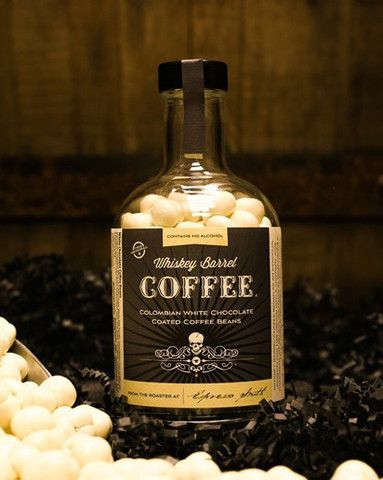 COLOMBIAN WHITE CHOCOLATE COATED WHISKEY BARREL COFFEE BEANS