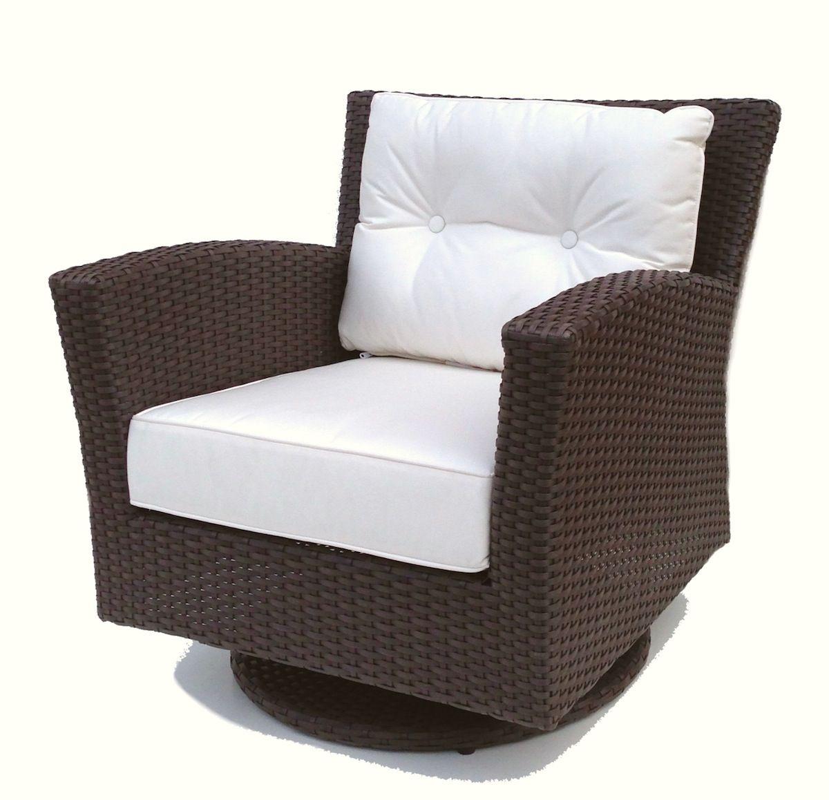 Outdoor Wicker Swivel Rocker Chair