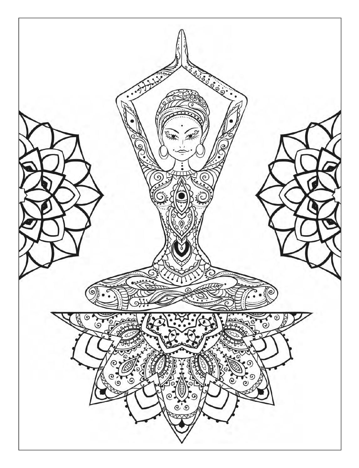Yoga and meditation coloring book