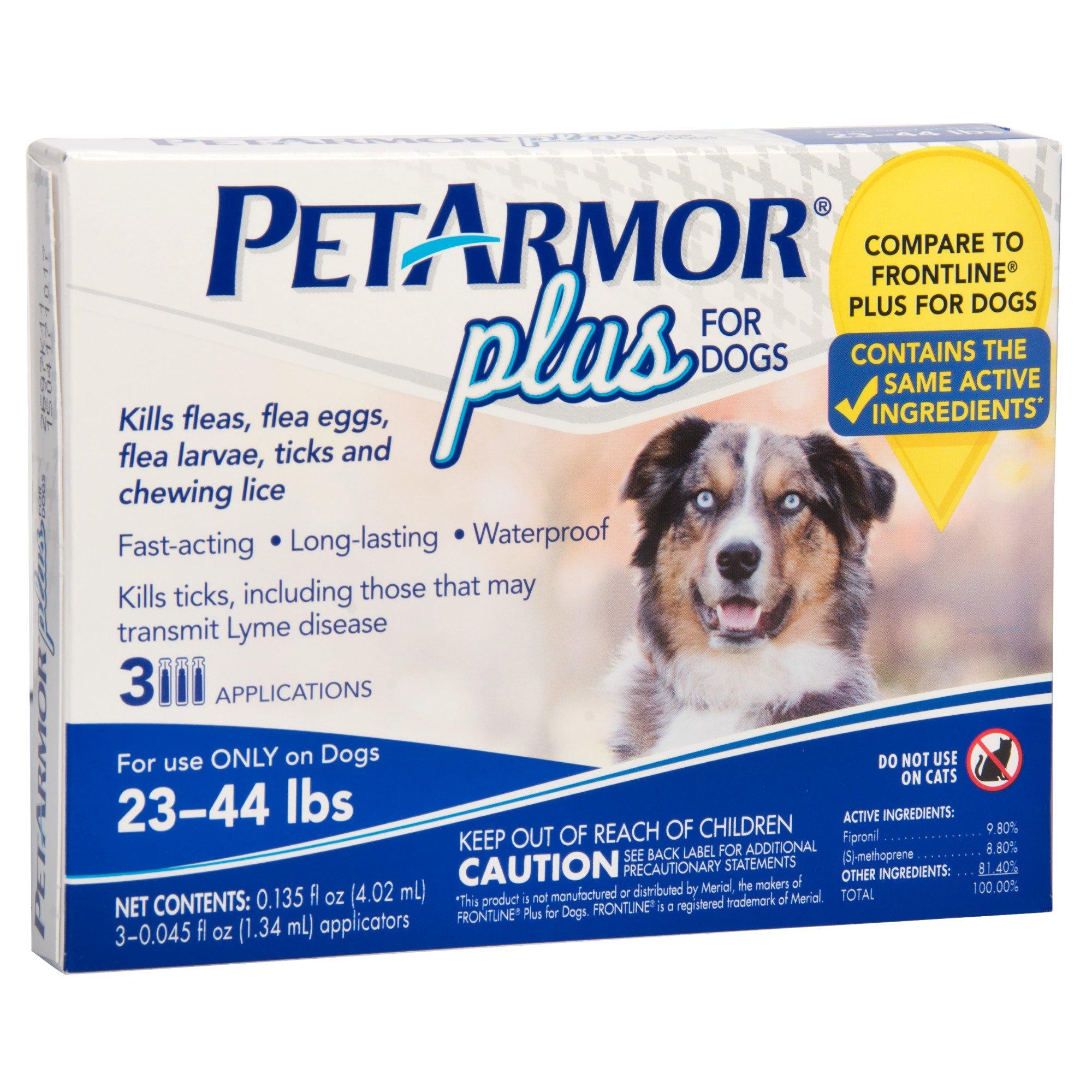 Petarmor Plus Flea Tick Squeeze On Dog 23 44 Lbs Count Of 3