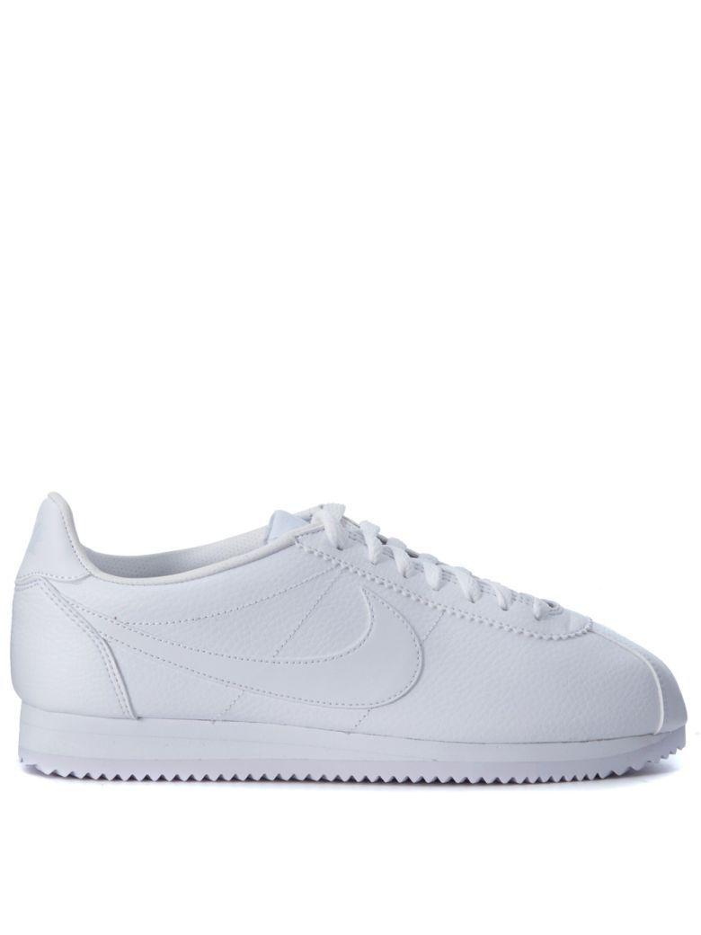 NIKE. NIKE Nike Classic Cortez White Leather Sneaker.