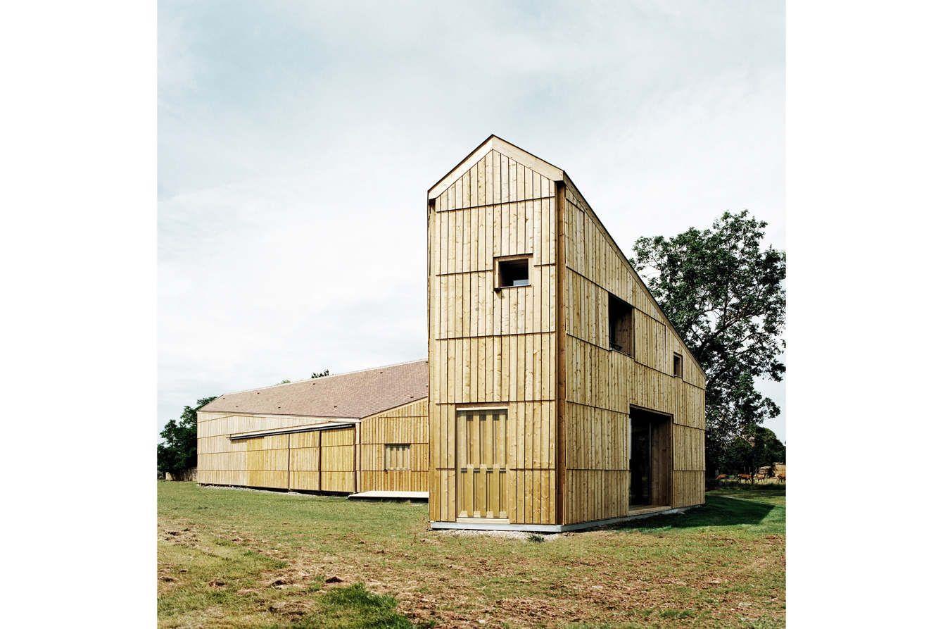Maison hangar agricole i cagny guillaume ramillien architecture urbanisme illustration