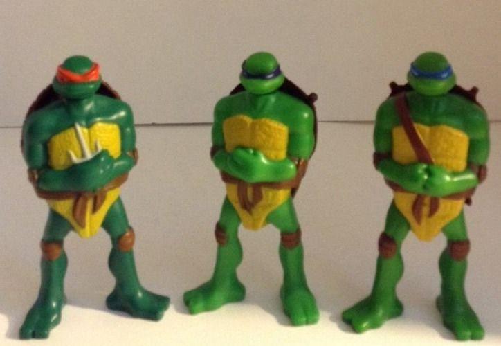 Tmnt Lot Of 3 Mcdonalds 2007 Action Figures Leonardo Donatello