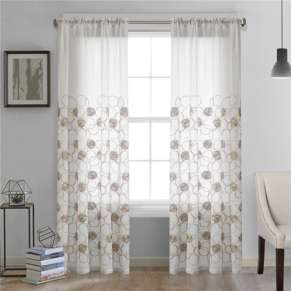 Amazon Com Dreaming Casa Solid Sheer Curtains Draperie White Rod