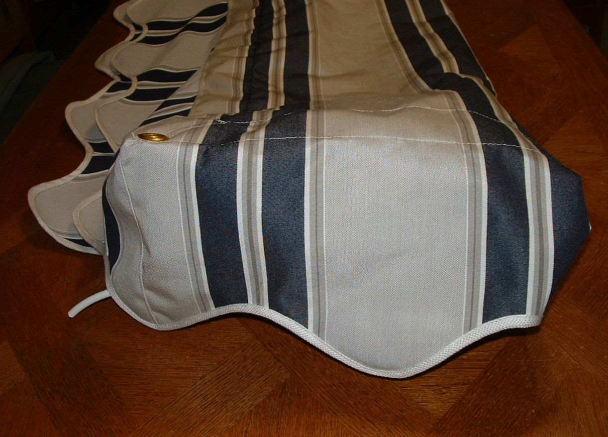 Pin On Pre Made Ready To Mail Vintage Camper Awnings For Sale