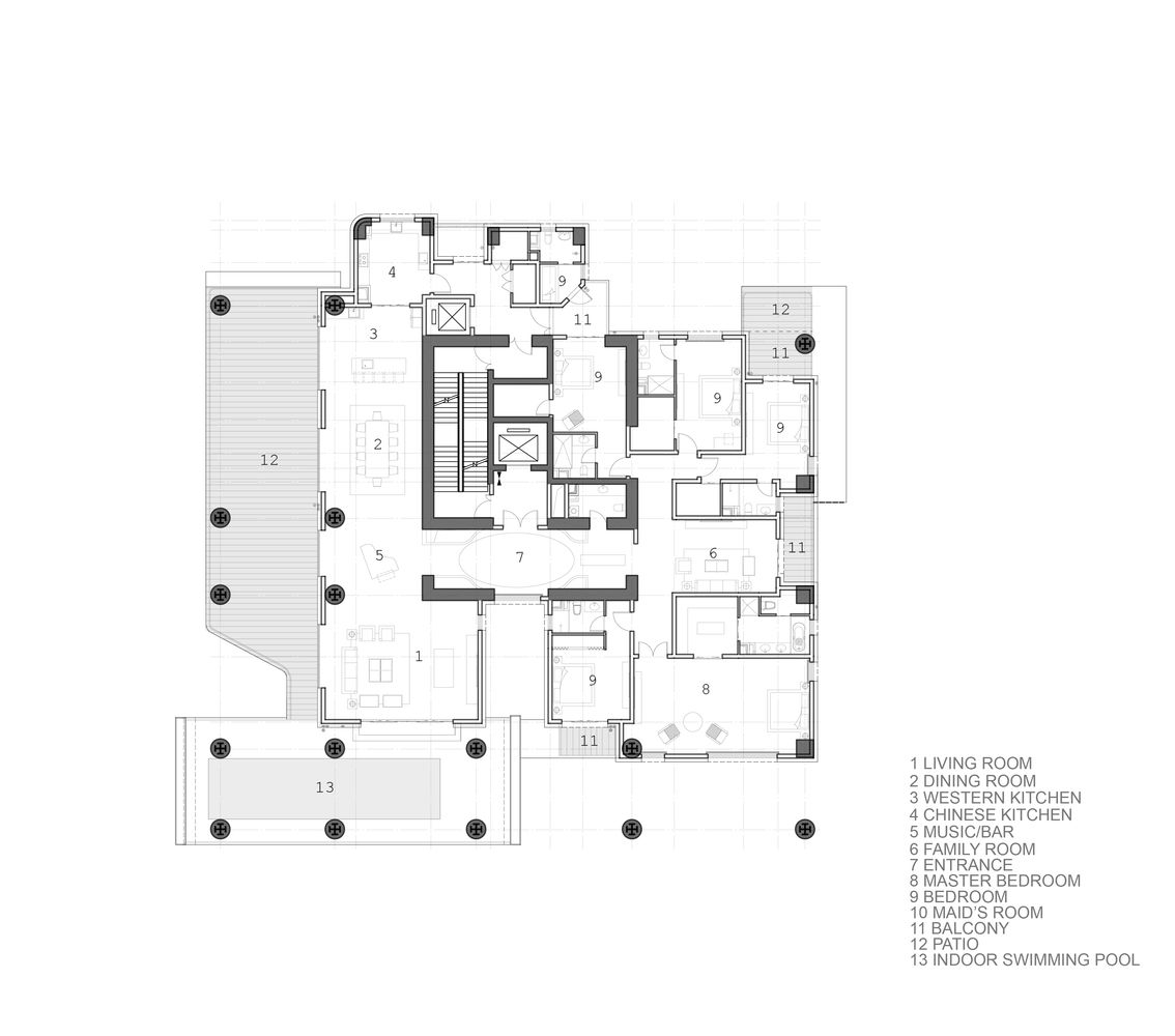 Luxury master bedroom floor plans  Gallery of Hanhai Luxury Condominiums  Amphibianarc    Luxury