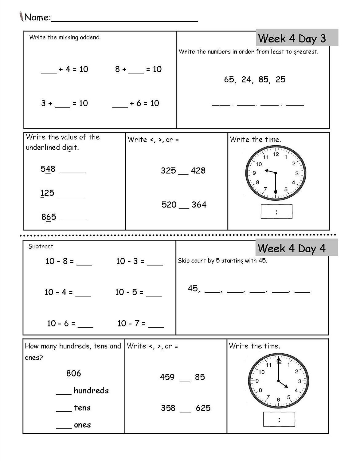 Free Homeschool Worksheets With Images