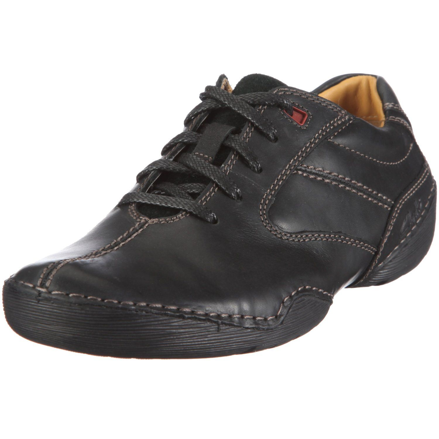 best supplier extremely unique online Clarks Roost Nature Shoes Mens Black Schwarz (Black Leather ...