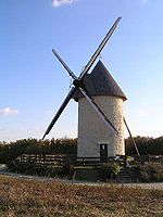 Moulin du Cluzelet is a tower windmill located in Jonzac, a commune of the Charente-Maritime department in southwestern France.