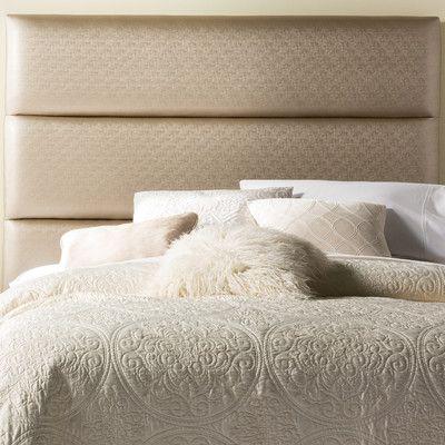 Brayden Studio Franklin Square Upholstered Headboard Size: Full, Upholstery: Golden Beige