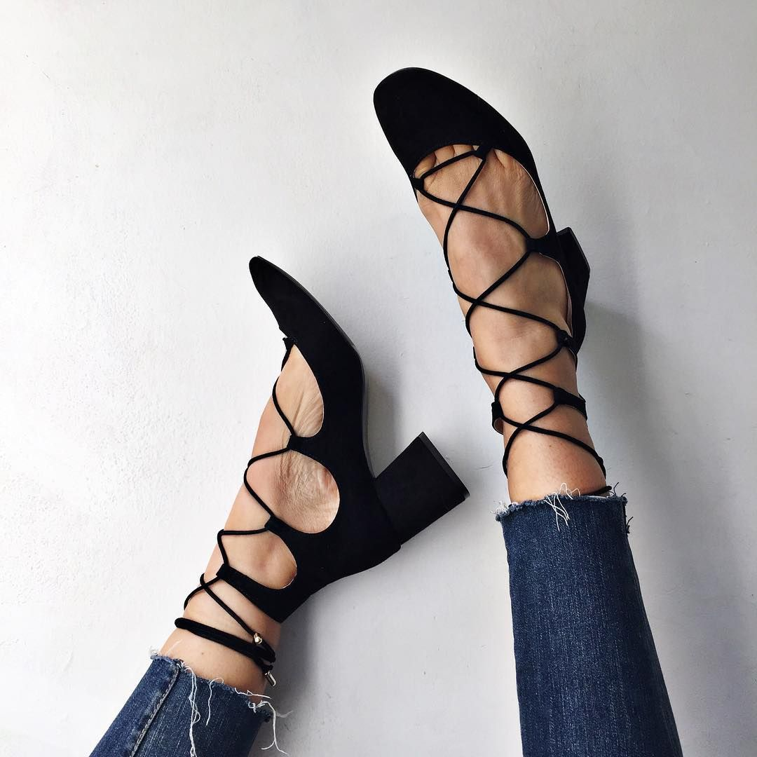 Lace Up Zara Heels