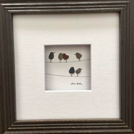 Original Pebble Art 5 by 5 Mini unframed Pebble Picture by Sharon ...