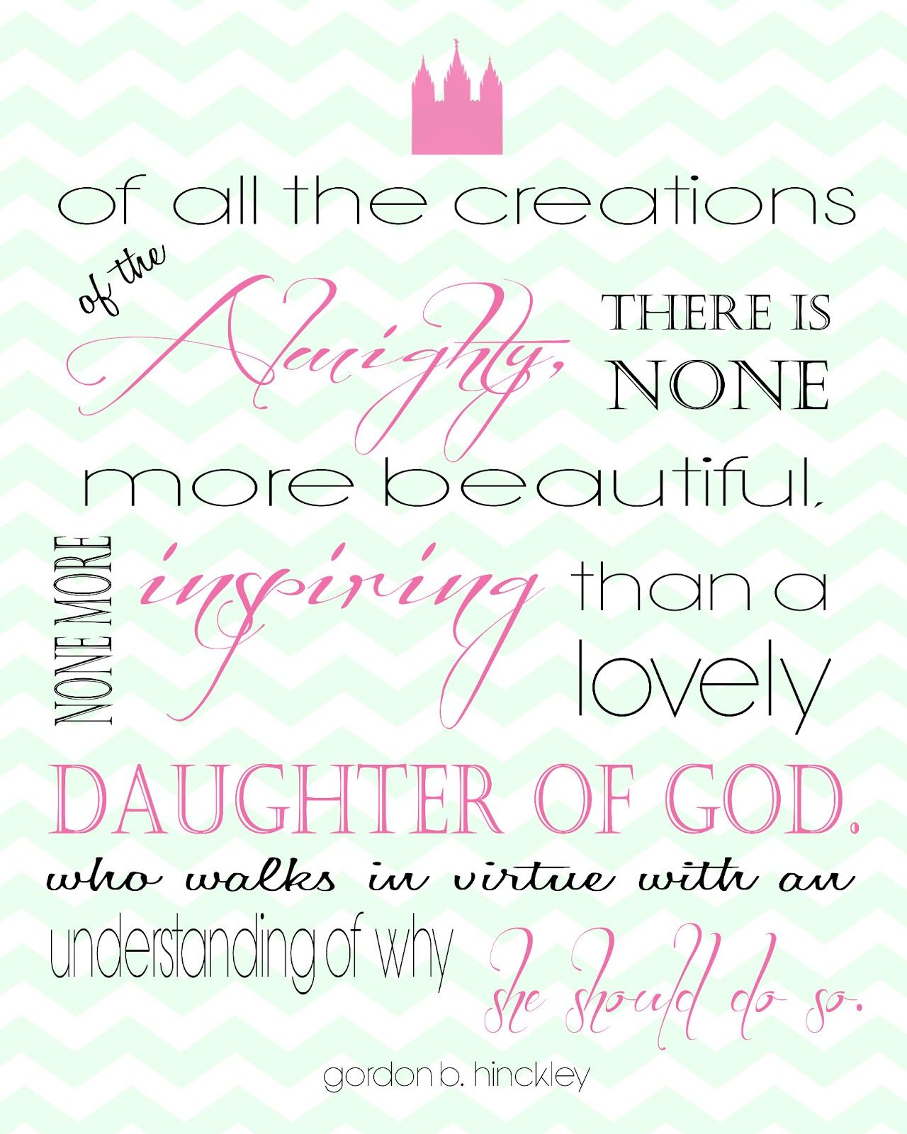 LDS Quote for young woman printable |