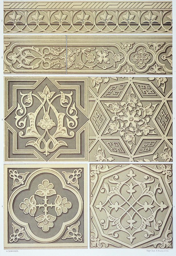 Arabic Tile Patterns Designs Drawing By Anonymous Fine