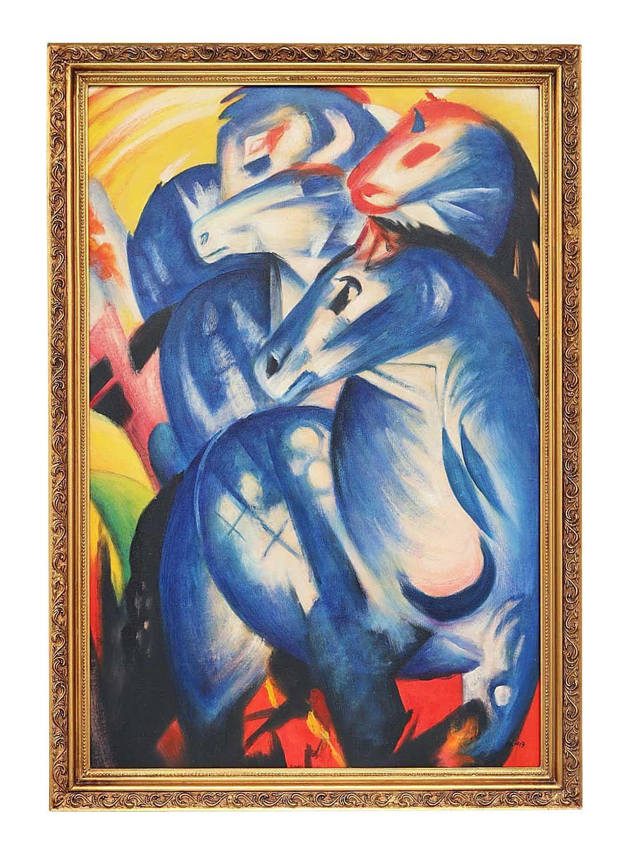 ölgemälde Reproduktion Der Turm Der Blauen Pferde Nach Franz