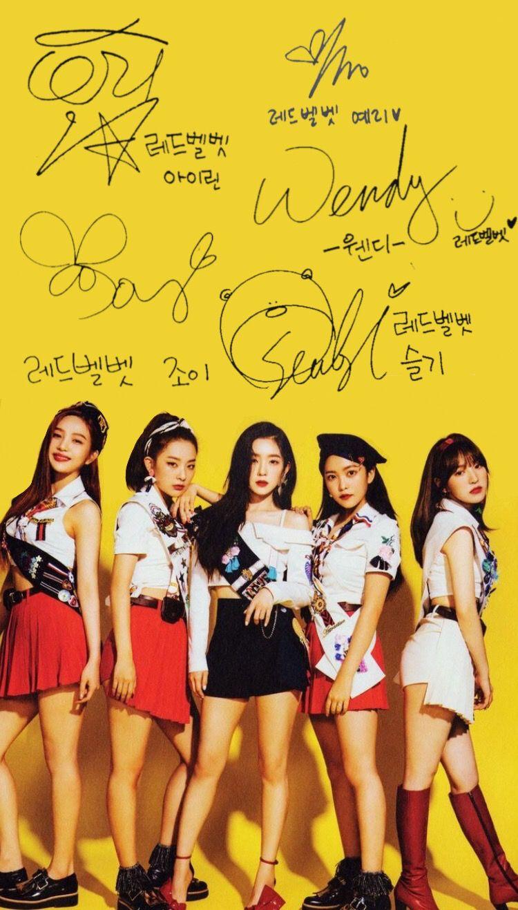 Red Velvet Wallpaper Selebritas Wanita Selebriti
