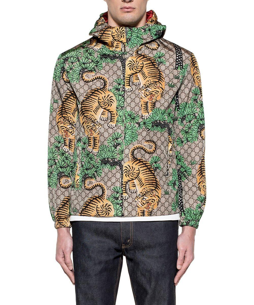 Gucci Men S Multicolor Polyamide Outerwear Jacket In Multiple Colors Modesens Gucci Men Outerwear Jackets Jackets [ 1200 x 1000 Pixel ]